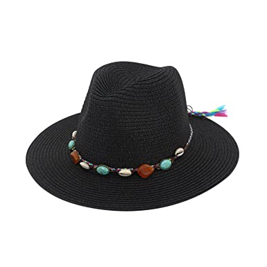 Image Unavailable. Image not available for. Colour  Petalum Women Summer  Sun Beach Straw Hat Foldable Wide Brim Adjustable UPF50+ Floppy Cap 01873ece43a4