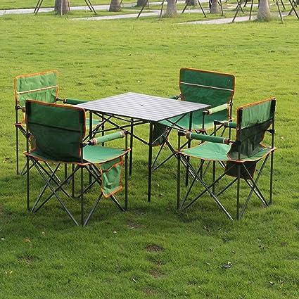 Ajustable Mesa y sillas Plegables Combinación de mesas y ...