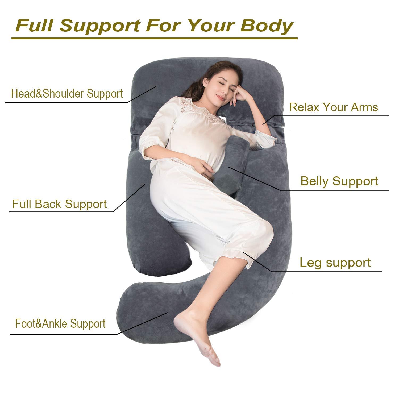 Amazon.com: Onory - Almohada de embarazo con forma de U ...