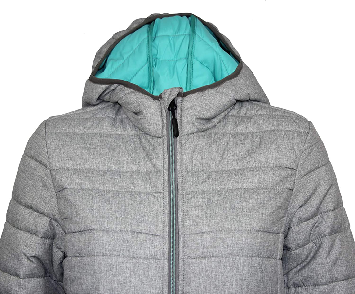Ladies Padded Light Winter Jacket with Hoodie for Sports and Outdoor Activity