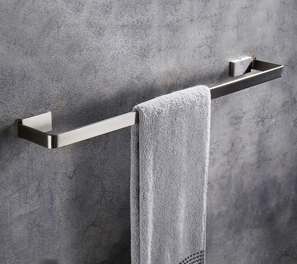 タオル棚/多機能タオルラックSUS304ステンレスタオル収納壁掛けバスタオルレール、バスルーム用シングルタオルバー (サイズ さいず : 50 cm 50 cm) B07DNNSVS2 50 cm 50 cm 50 cm 50 cm