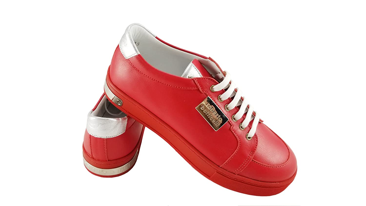 Roberto Botticelli Limited Boys//Girls Leather Fashion Sneakers Lace-up Closure Shoes.Little Kids//Big Kids