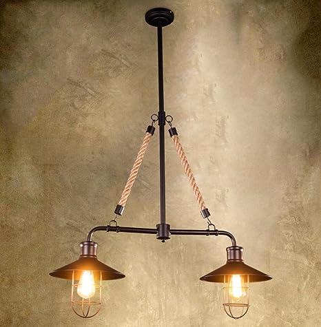 GFFORT lampadari in ferro battuto stile industriale negozio di  abbigliamento ristorante bar cafè corda di canapa