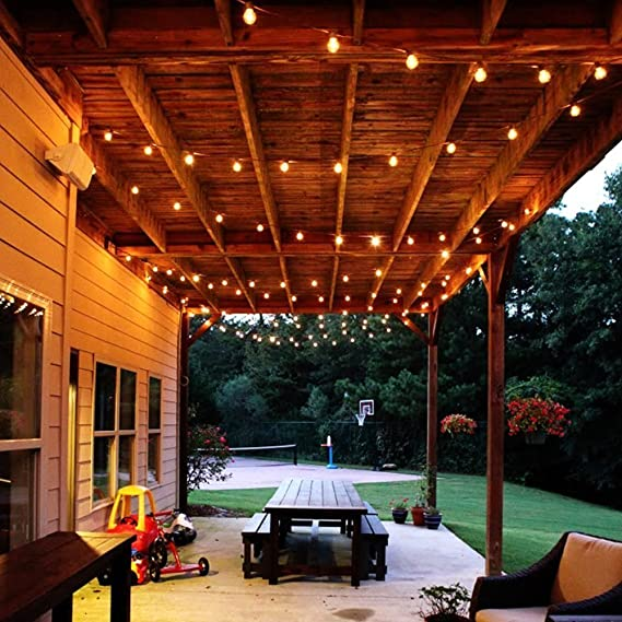 Solar Bombilla luz de la secuencia, SUAVER Impermeable 4.9ft 10LED Bombillas Guirnalda de Luces Luces de hadas Luce decorativa LED Exterior Luminosas Para ...