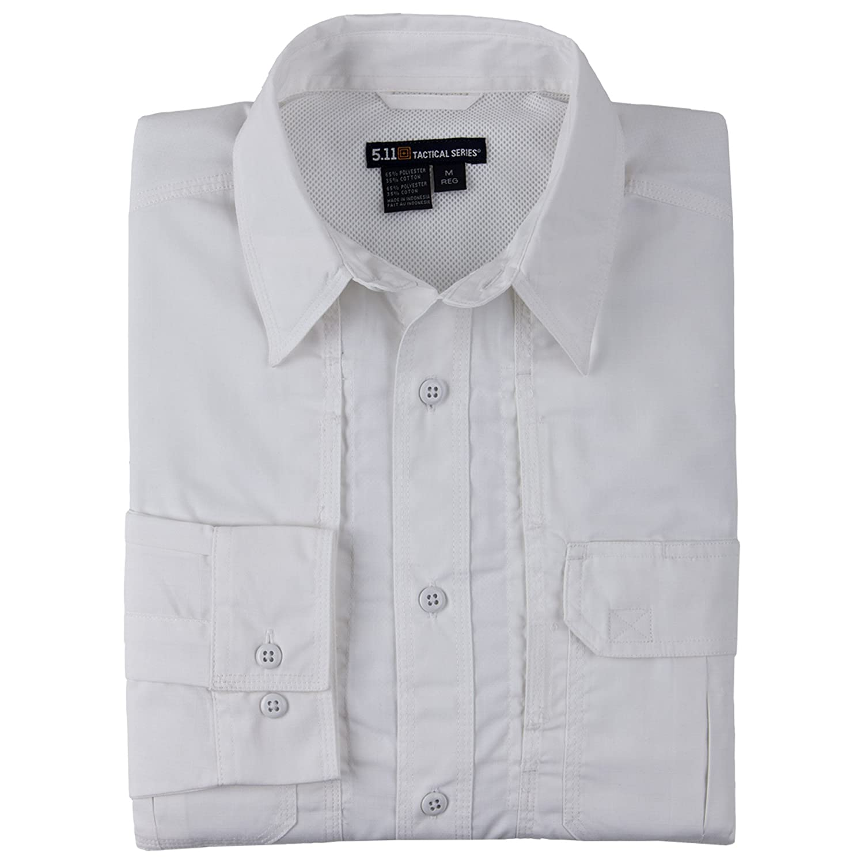 blanc S 5.11 Chemise à Manches Longues Taclite Professional, Homme.