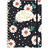 "Ruled Notebook/Journal - Lined Spiral Cute Notebook Journal for Women 6.3"" X 8.35"", Hardcover, Back Pocket, Strong Twin…"