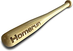 Hat Shark Toy Wooden Baseball Bat with Home Run Engraving Custom Personalized Gift