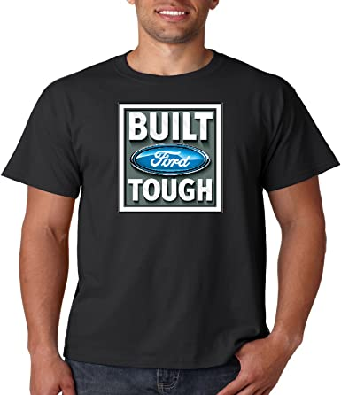 Official Ford Built Tough Men/'s T-shirt High Quality Brand New Tee