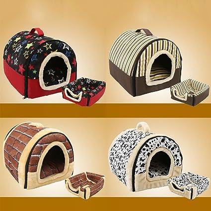 Safecar - Caseta Plegable portátil para Cachorro, Perro, Gato con tapete para caseta Nido