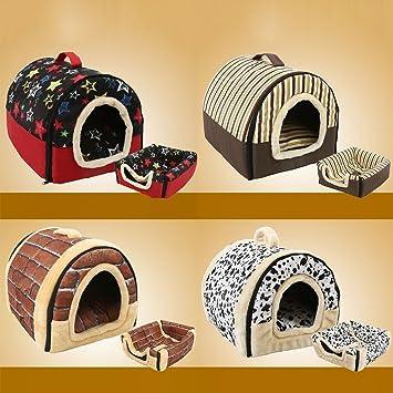 Safecar - Caseta Plegable portátil para Cachorro, Perro, Gato con tapete para caseta Nido Cama Tienda de campaña de Viaje: Amazon.es: Productos para ...