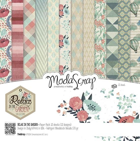 Moda Scrap RELAX In The GARDEN - Kit pata álbum de recortes, 6X6