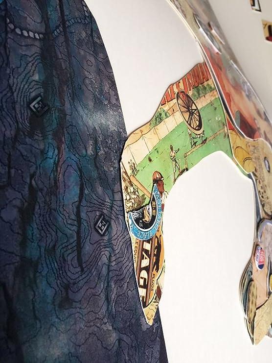 Kunstloft® 3D Collage del Arte Imagen Leopardo acechando ...