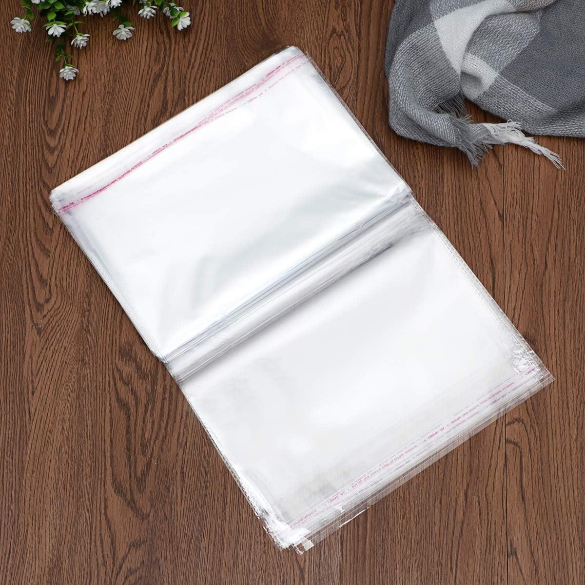 bestomz sacs sachets transparents plastique pochettes en Cellophane autocollante 30/x 40/cm 100/pi/èces