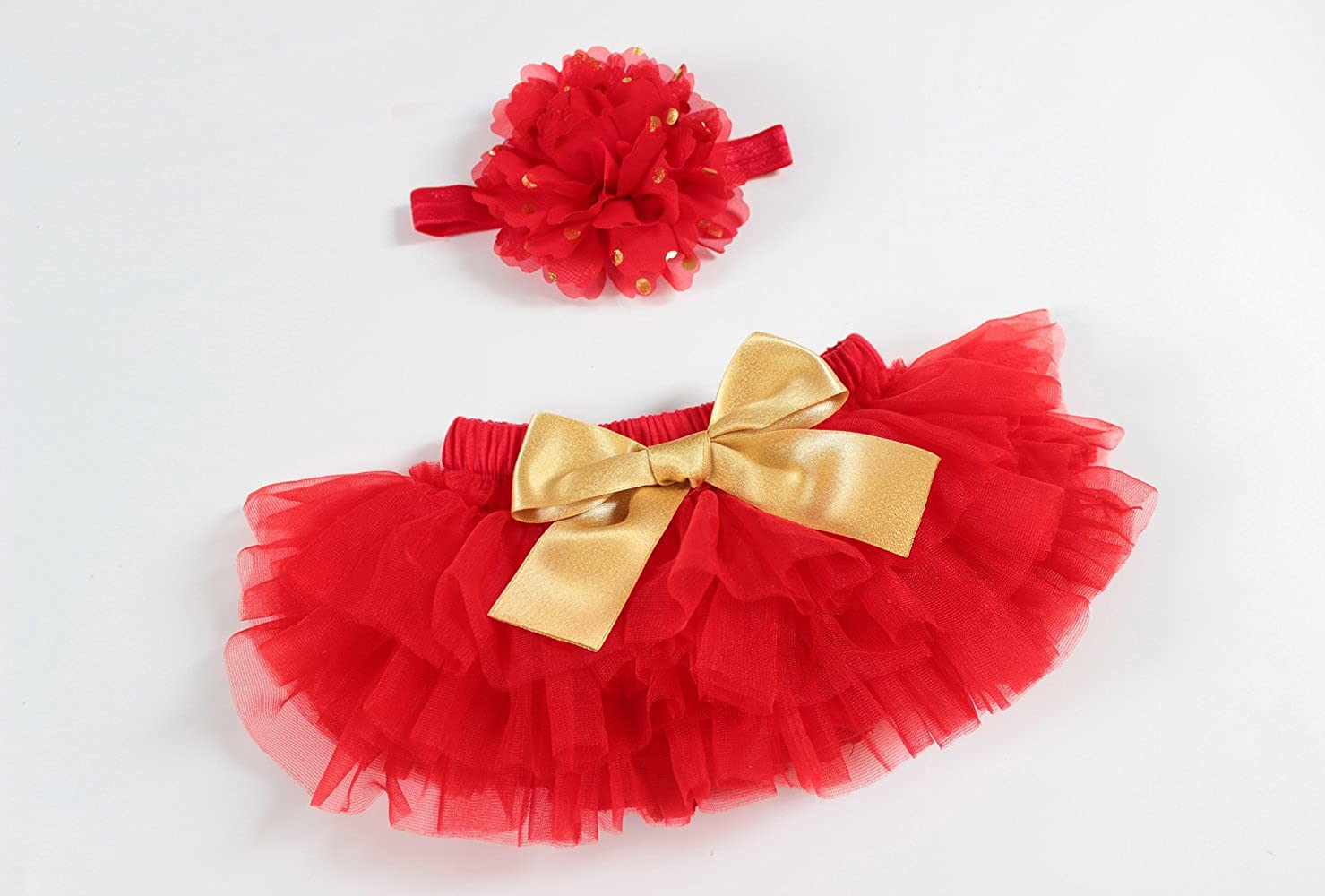 OoSweetCharlotteoO 2pcs Baby Girl Christmas TUTU Bloomer Outfit Newborn Photo Prop