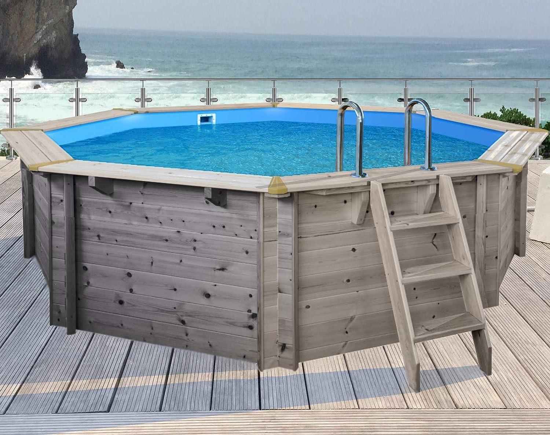 SL247 Luxus Redondo Pool de Madera I Piscina Sobre Suelo 355 cm Diámetro I 116 cm de Profundidad I Piscina Juego Completo Incluye Arena Filte rpume y Filtro ...