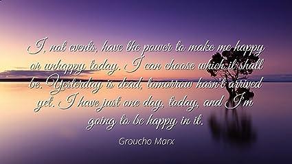 Amazon com: Groucho Marx - Famous Quotes Laminated POSTER
