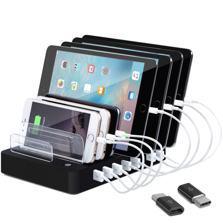 8-Port Charge Station - Multiport USB Charging Dock for Any Smartphone or  Tablet – 50 W Desktop