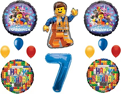 Legos 2 Movie 7th Birthday Party Balloons Decoration Supplies Seventh