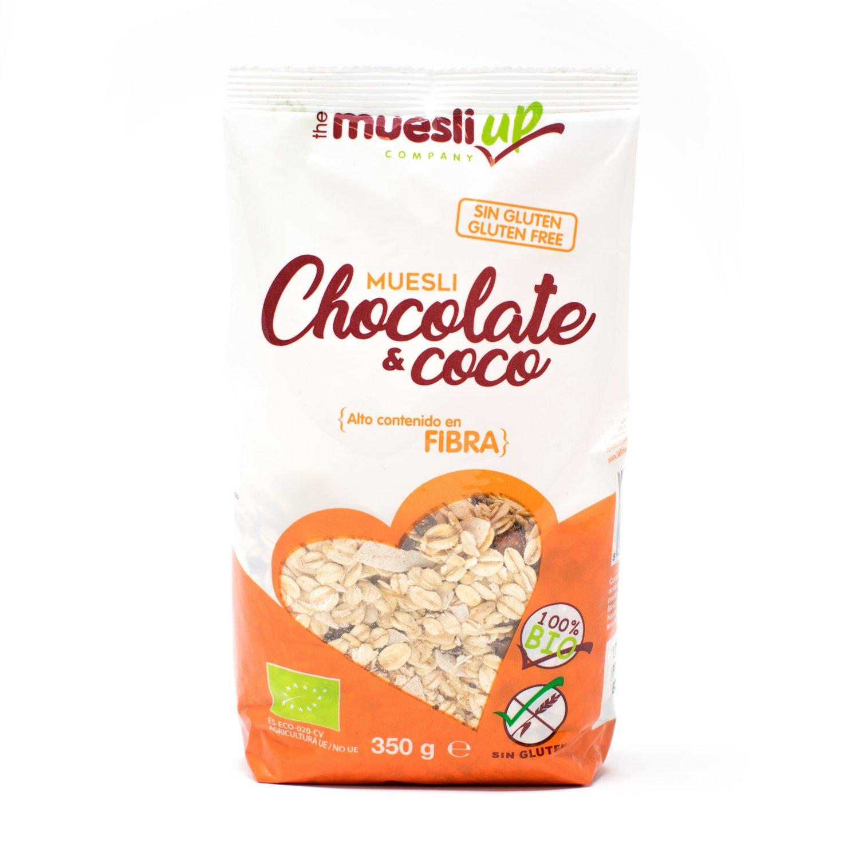 Muesli con chocolate y coco gluten free BIO - Muesli Up - 350gr: Amazon.es: Alimentación y bebidas