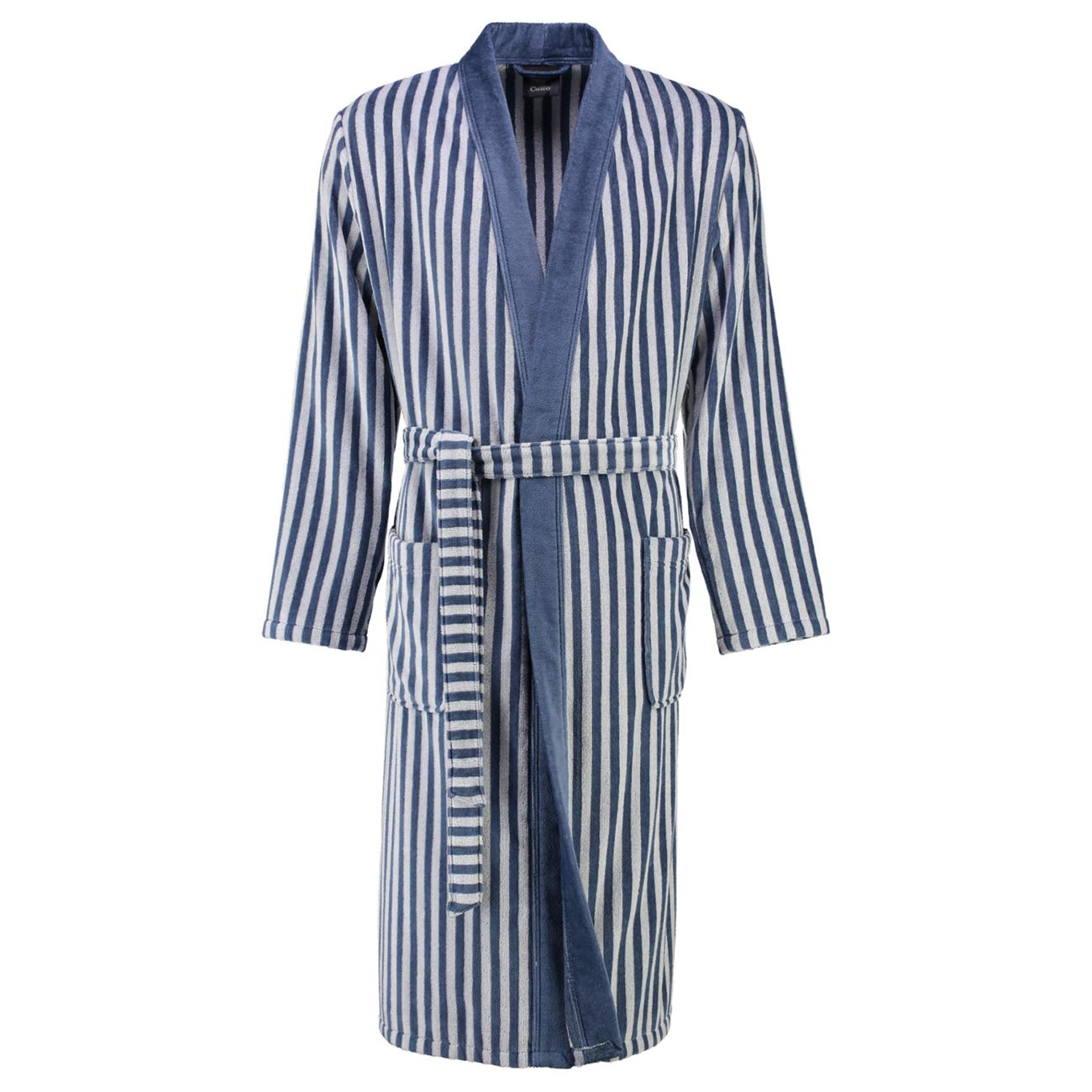 Cawö Herren Kimono - Bademantel Campus 5870   17 Nachtblau - 50