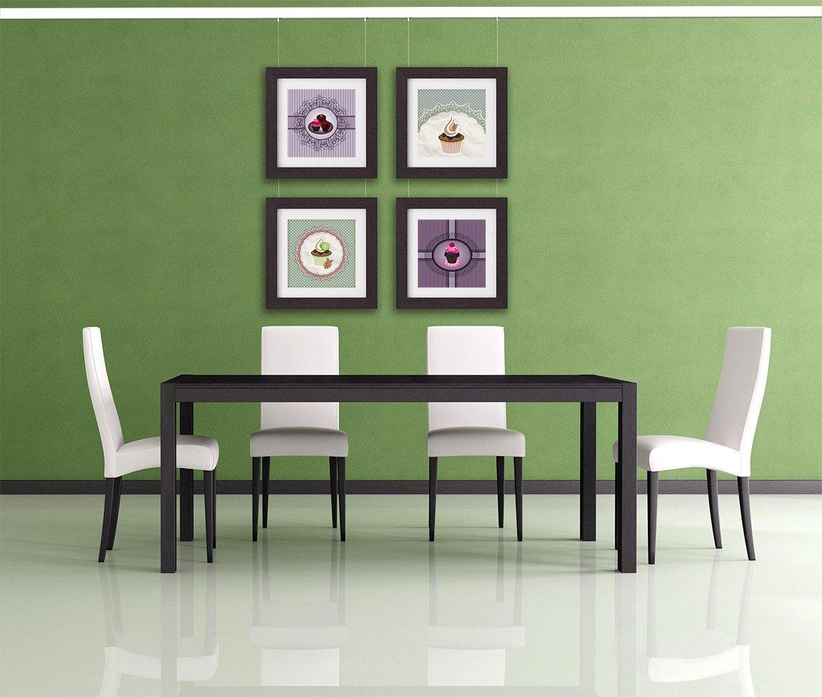 Leha - Set di guide per appendere quadri, 6 m (4 x 1,5 m), colore ...