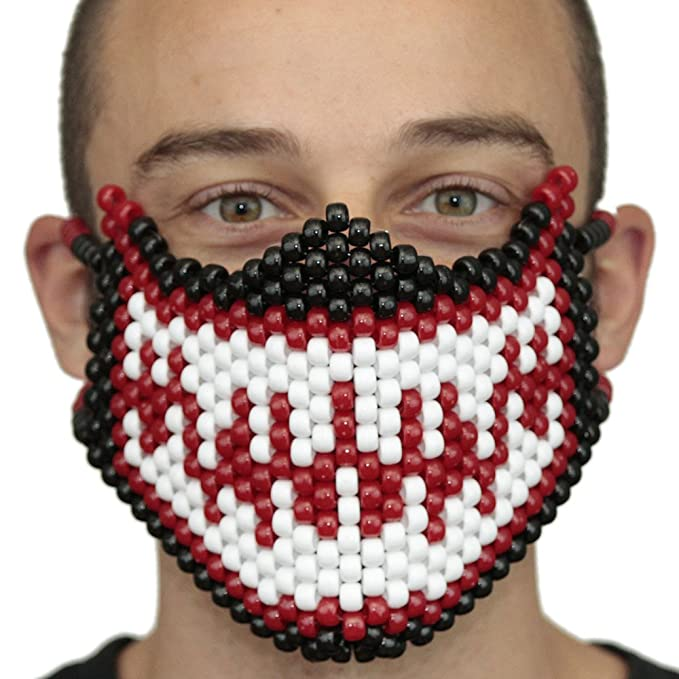 Mascara Kandi Completa de Veneno (Venom) Roja y de Spiderman Blanca por Kandi Gear