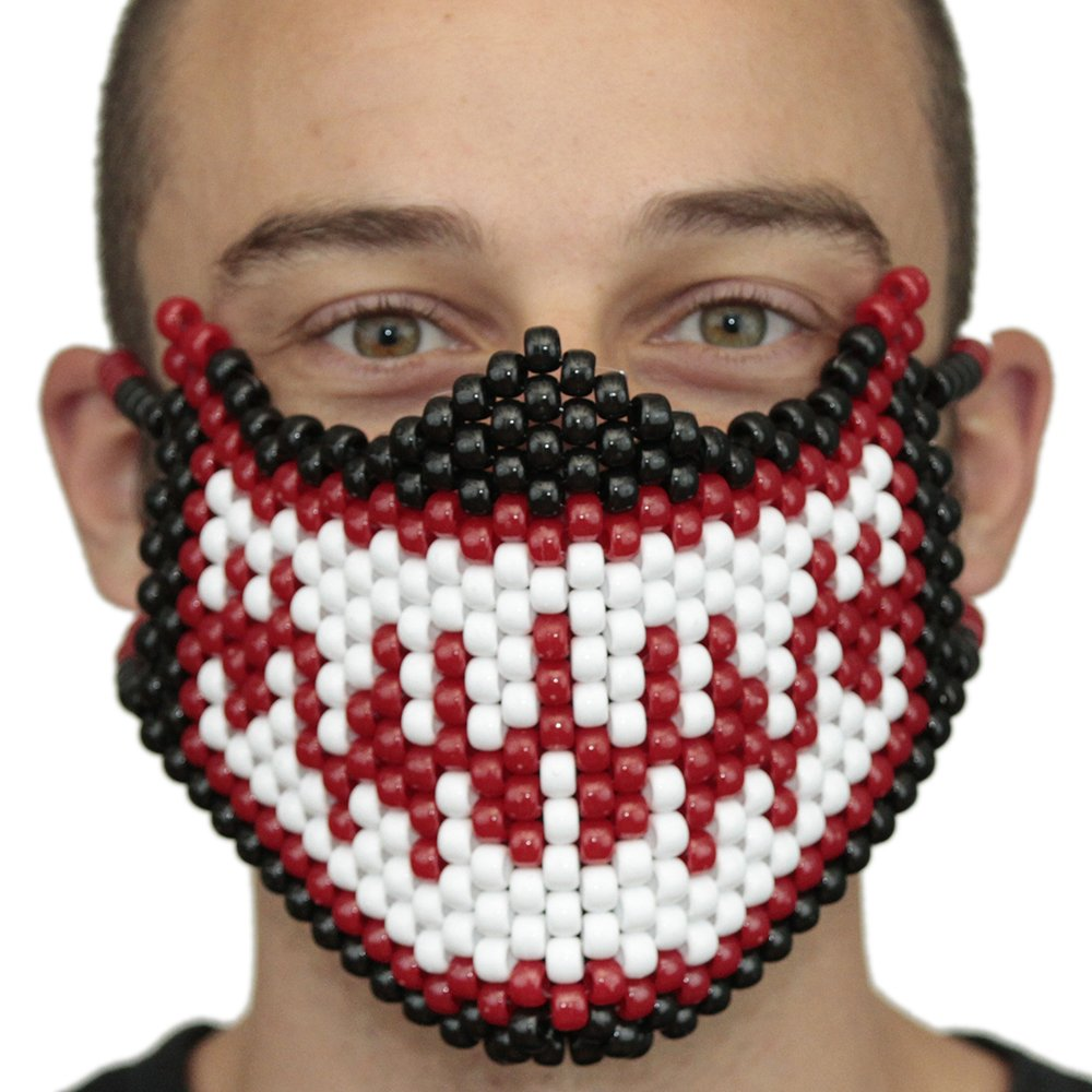 Venom Red and White From Spiderman Full Kandi Mask by Kandi Gear