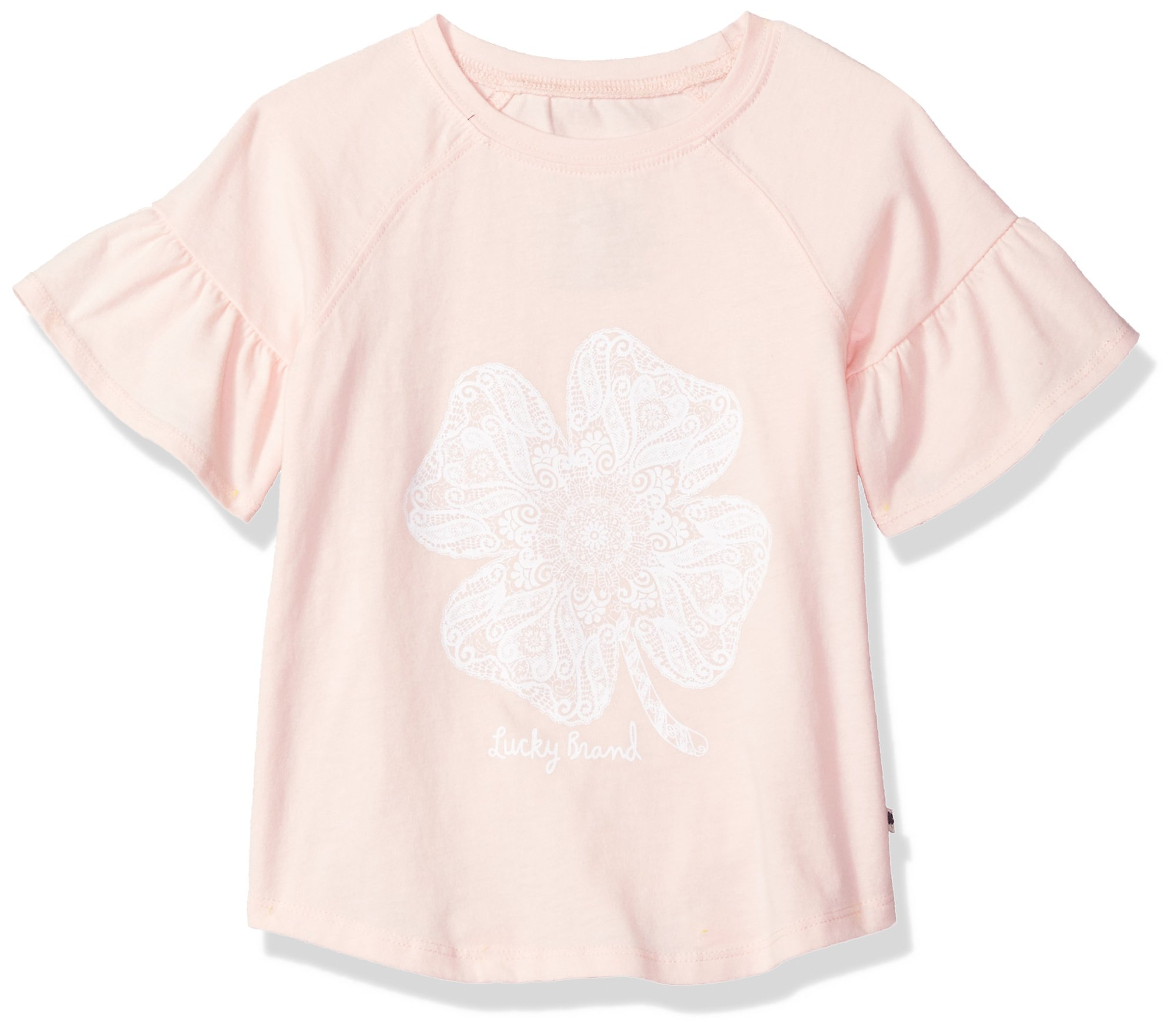 Lucky Brand Big Girls' Belinda Graphic Tee, Belinda Gossamer Pink, X-Large (16)