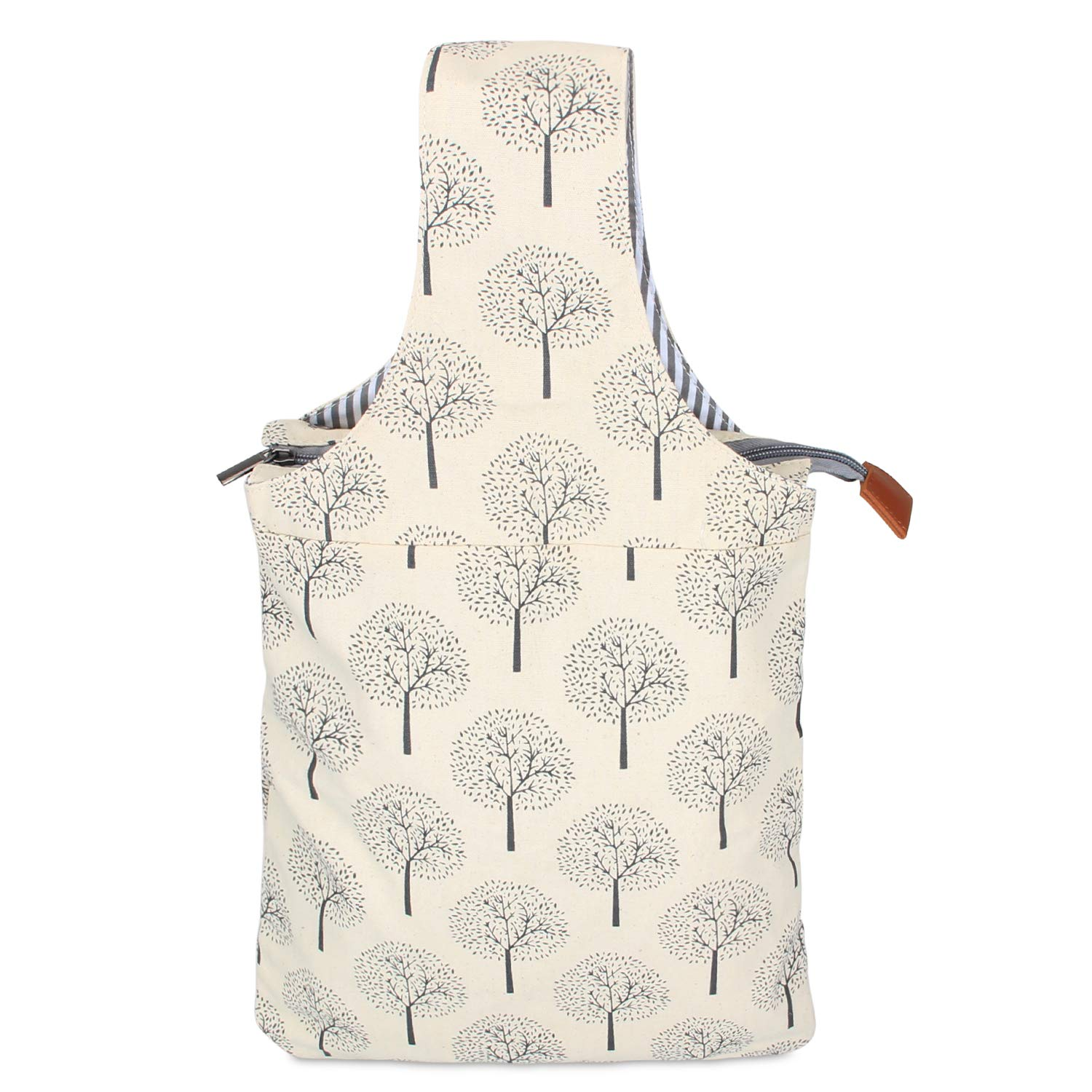 (Tree) - Teamoy Knitting Bag, Canvas Yarn Tote Project Bag for knitting Needles, Yarn and Crochet Supplies, Perfect Size for Knitting on The Go, Tree B078GN7V78 木