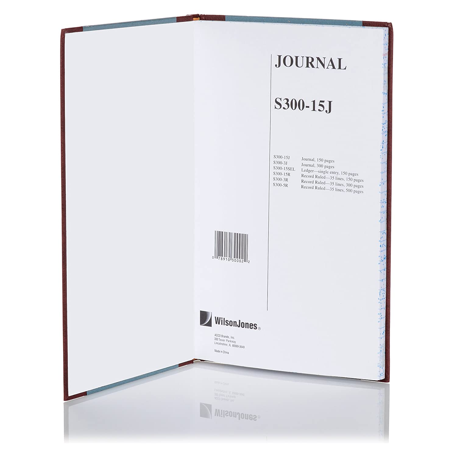 "Amazon.com : Wilson Jones Account Journal, 11-3/4"" x 7-1/4"", Ruled, 150  Pages, 33 Lines, 2 Column, S300 (WS300-15JA) : Record Books : Office  Products"