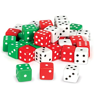 Learning Resources Dot Dice, Math Manipulative, Probability Dice, Board Game Dice, Set of 36, ages 3+: Office Products