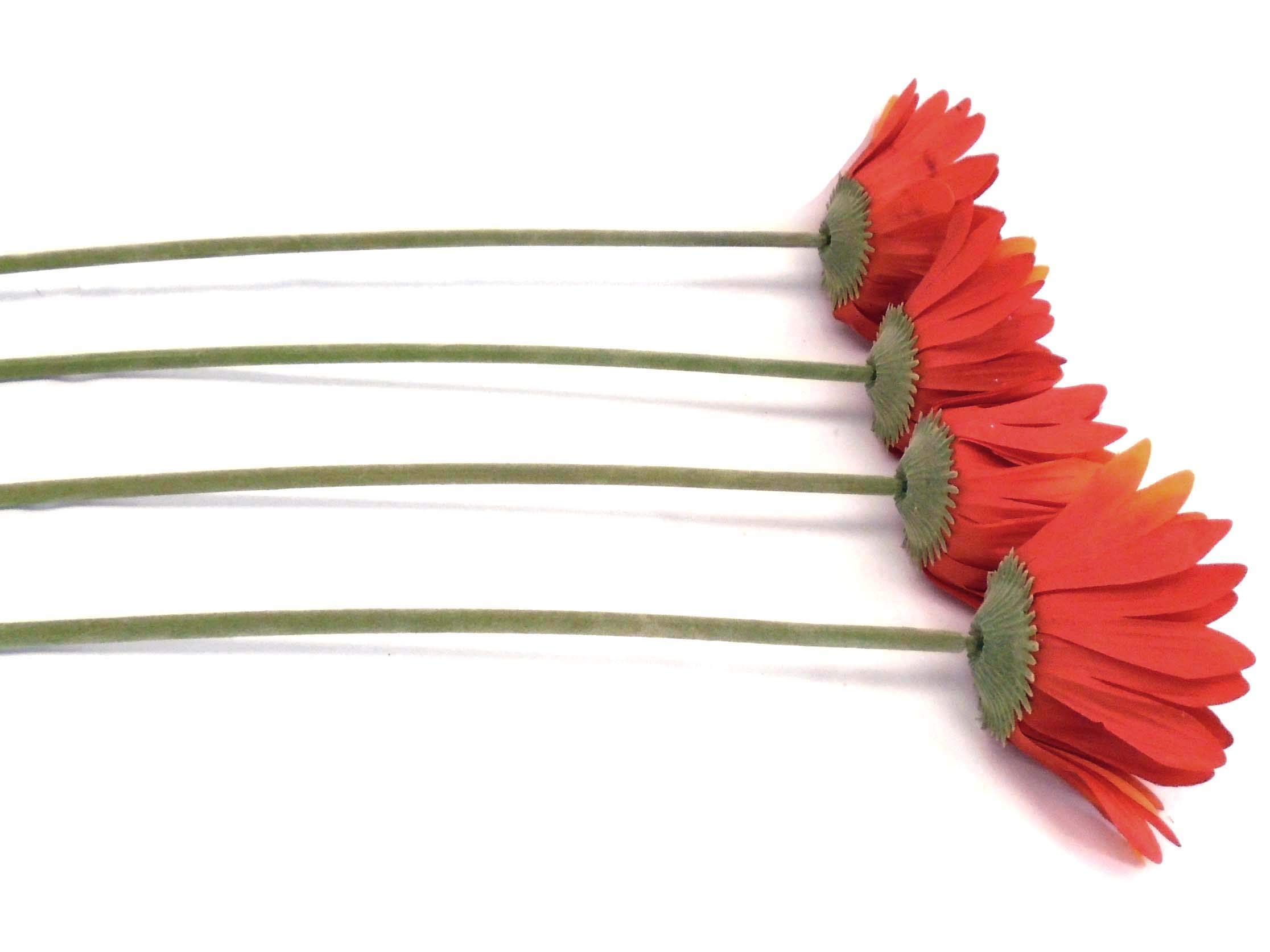 "silk flower arrangements phoenix silk 4 stems daisy artificial silk flowers 1001or 24"" spray orange"
