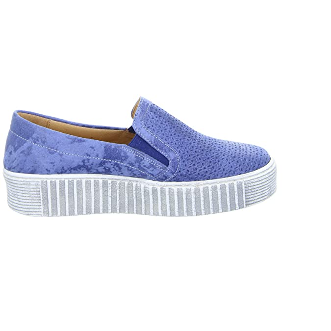 Double You By Dessy 46854 Damen Slipper Leder blau, Größe 41