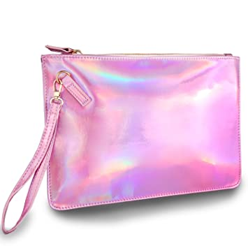 da49079867 Holographic pouch Laser Cosmetic Bag Makeup Bag - UNIQUE2U Fashion Women s  Holographic Leather Bag