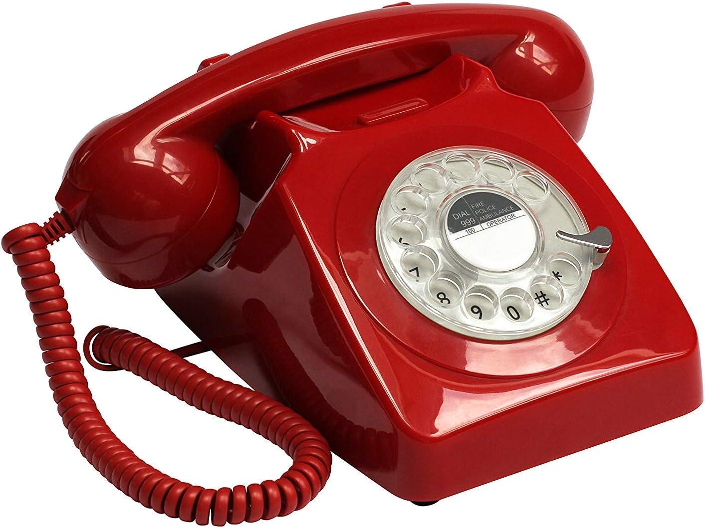 GPO 746 Teléfono fijo de disco con estilo retro de los años 70: Amazon.es: Electrónica
