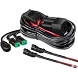 Nilight - 10036W 14AWG 11.5 Feet DT Connector Wiring Harness Kit LED Light Bar 12V On Off Switch Power Relay Blade Fuse for O