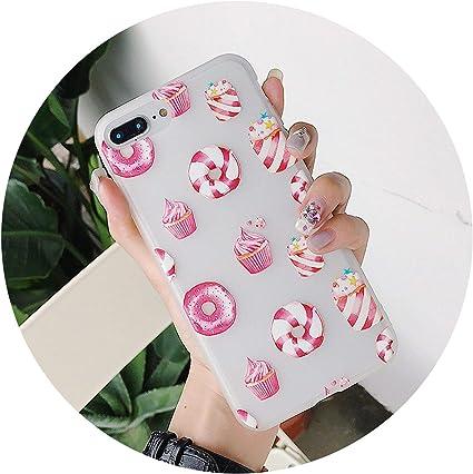 Coque pour iPhone 7 Rose Bonbon Ballon Gâteau Motif Soft Silicone ...