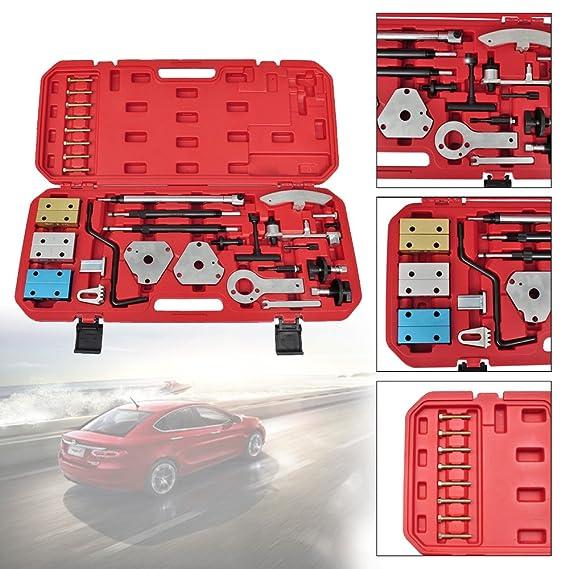 HG alineación del árbol de levas bloqueo de maletín con juego de herramientas para motores fiat alfa romeo punto Doblo Citroen Ford Opel Peugeot Renault, ...