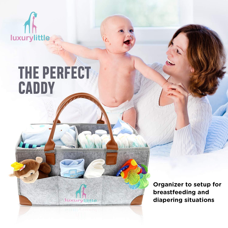 Amazon.com: Organizador de pañales para bebés, cubo de ...