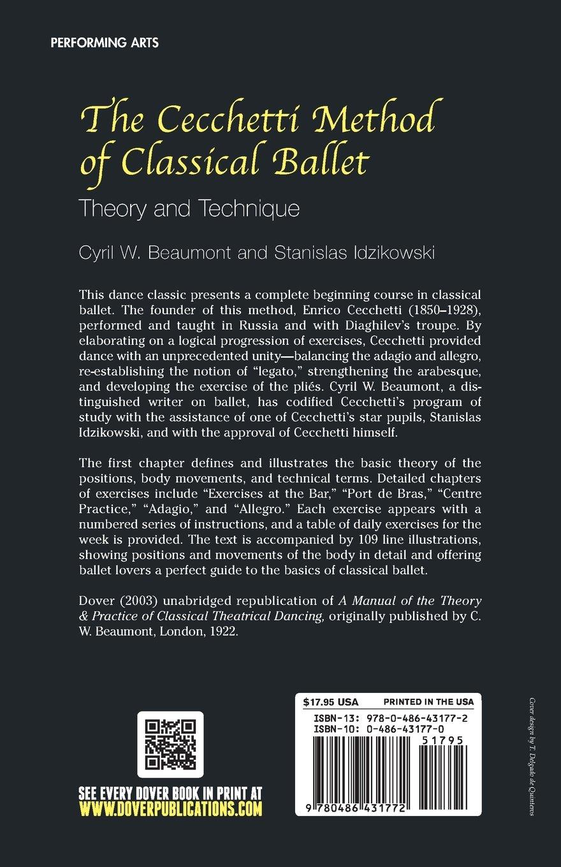 The Cecchetti Method of Classical Ballet: Theory and Technique: Cyril W.  Beaumont, Stanislas Idzikowski: 9780486431772: Amazon.com: Books