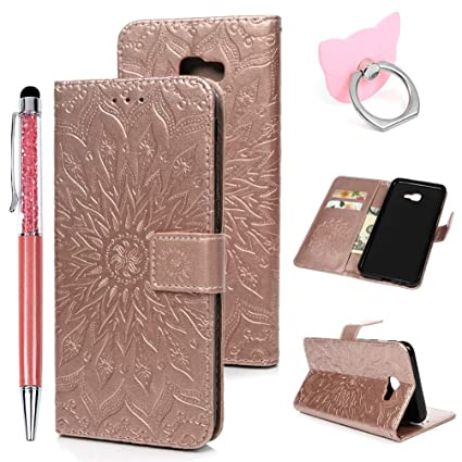 J4 Plus 2018/J4 Prime Handyhülle Flip Case für Samsung Galaxy,Idlehour PU Leder Case Cover Magnet Schutzhülle Tasche Skin Stä
