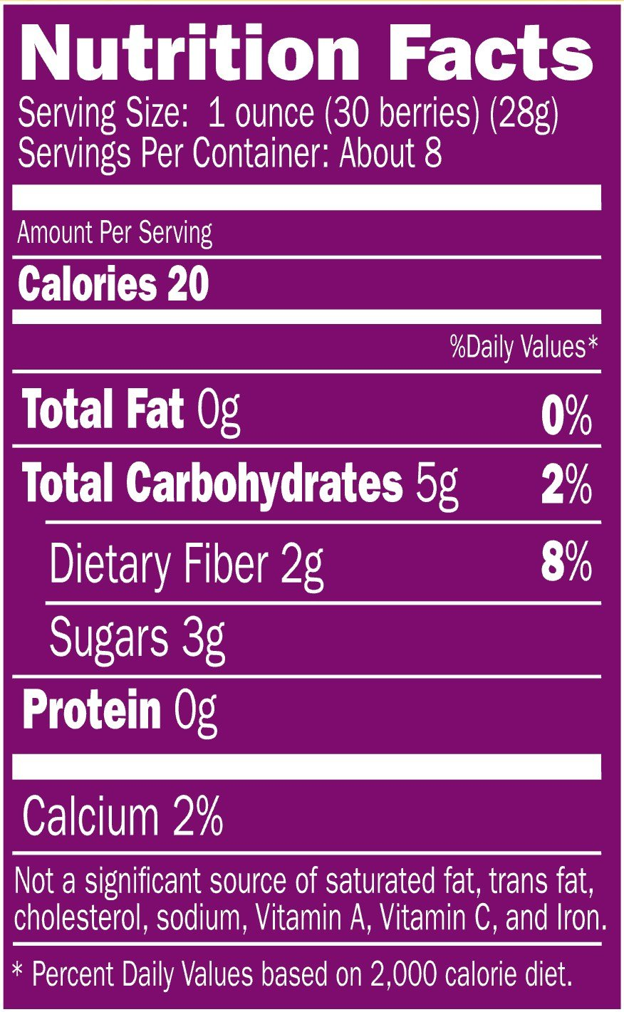 6 Pk Organic Fresh-frozen Aroniaberries (Chokeberry), 32 Oz. Package