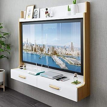 Mueble TV de Pared Router de WiFi Set Top Box Marco de TV Estante de la Pared Estante Flotante Consola Multimedia ...