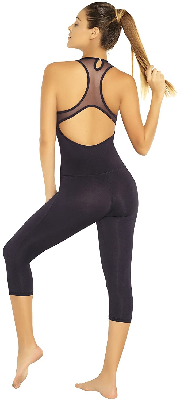 Adriana Arango Women's Fitness Jumpsuit Stretch Fit Gym One Piece Outfit