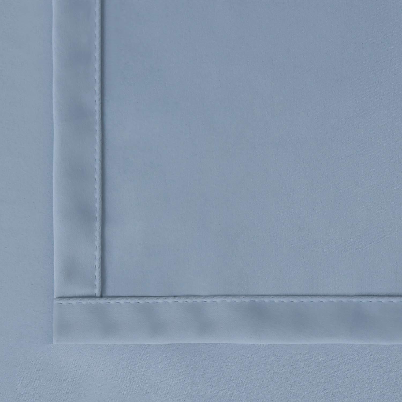 BGment Gardine Verdunklungsgardine 2 Stück Verdunkelungsvorhänge mit Ösen Ösen Ösen Beige Vorhänge Blickdicht Monochrome Kälte- und Wärmeisolierung,137 x 117 cm B07GJ2CKHD Raffhalter 73073f