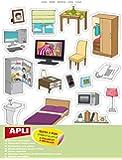 Gommettes repositionnables - La maison - 60 pastilles - APLI AGIPA