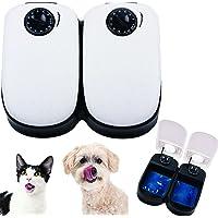 Comedero Automático para Perros, Gatos y Mascotas, Temporizador Programable con Pantalla LCD -blanco