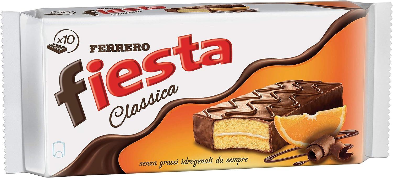 Pack Ferrero Fiesta merienda 7 paquetes de 10 porciones individuales de 36 g