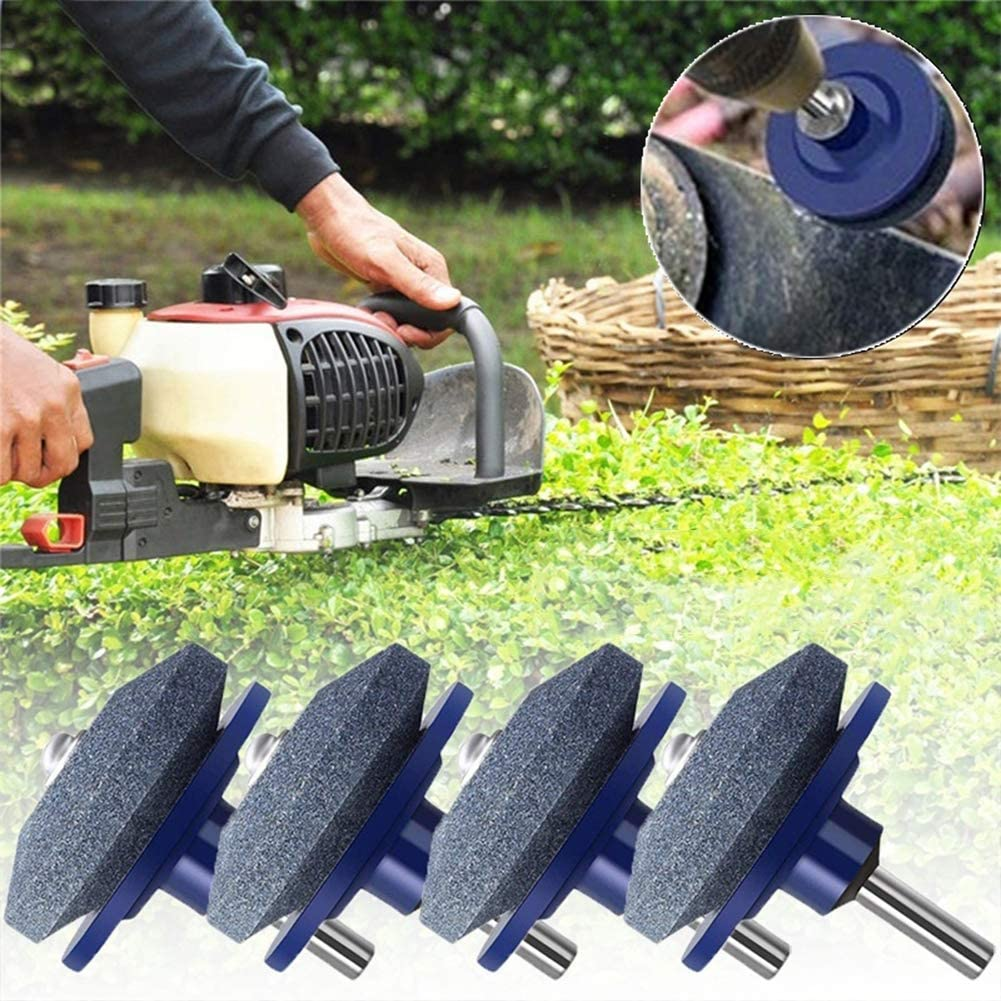 1pc Lawn Mower Blade Sharpener,Sharping and Polishing Tool,YESZ 1//2//4//5Pcs Lawn Mower Sharpener Garden Cropper Blade Rotary Grinding Drill Tool