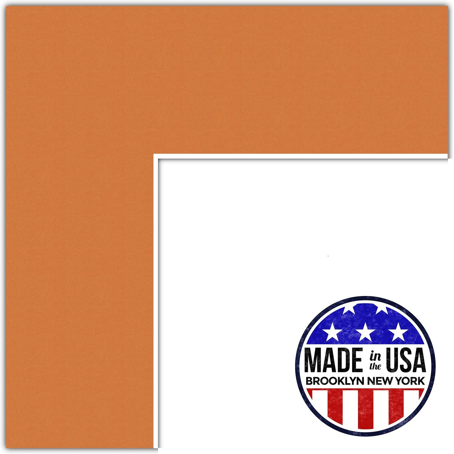 19x34 Tangerine/Octoberfest Custom Mat for Picture Frame with 15x30 opening size (Mat Only, Frame NOT Included)